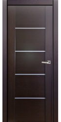 Двери Милано D2 4, венге, ПГ, молдинг