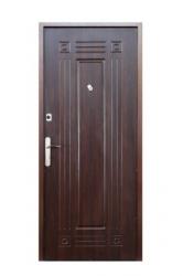 Двери М-1 (порошок/МДФ) орех темный