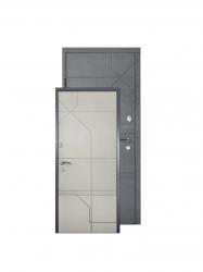 Двери М-2 дуб грифель/дуб тауп