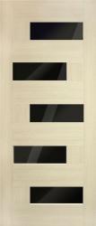 Домино ПВХ (черное стекло)