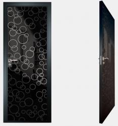 Двери СКС моноколор черный №04