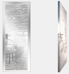 Двери СКС моноколор белый №19