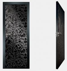 Двери СКС моноколор черный №20