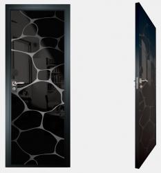 Двери СКС моноколор черный №16