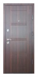 Двери ДМ-3 Орех темый/ дуб беленый
