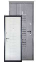 Двери ДМ-3 антрацит/белая шагрень