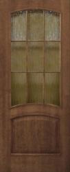 Двери Капри ПО со стеклом кора бронза