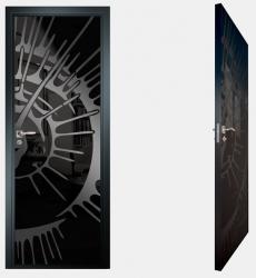 Двери СКС моноколор черный №11