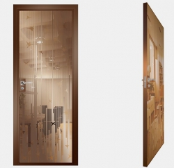 Двери СКС бронза №12