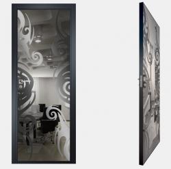 Двери СКС графит №15
