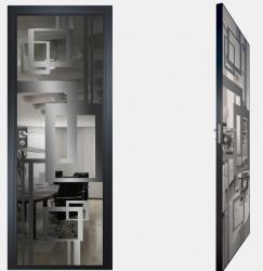 Двери СКС графит №18