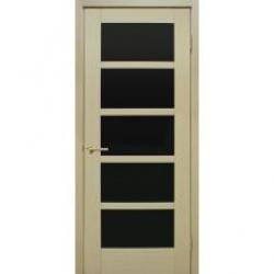 Двери Вена ПО черное стекло